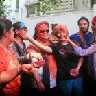 Bappi Lahiri Celebrates Holi With His Family And Friends
