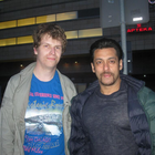 Salman,Jacqueline And Randeep Spotted With A Fan On The Set Of Kick