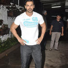 John Abraham Watches Ritesh Lai Bhaari Movie At Mumbai