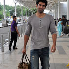 Parineeti Chopra And Aditya Roy Kapur Leave For Delhi Daawat-E-Ishq Promotions
