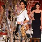 Lisa Haydon Walks For Monisha Jaisingh At India Couture Week 2014