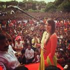 Bipasha Basu Celebrating Dahi Handi At Ghatkopar