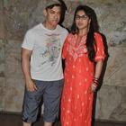 Aamir Khan And Kiran Rao At Mardaani Screening