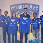 Abhishek Unveils Official Jersey Of Chennaiyin FC Press Meet