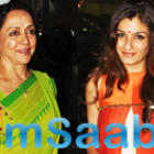 Hema Malini And Raveena Tandon Snapped At Airport