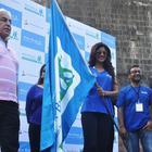 Shilpa Shetty At Mumbai Marathon Run 2014