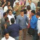 Kareena And Salman Shooting For Bajrangi Bhaijaan At Delhi