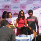 Bipasha Basu And Milind Soman At The Pinkathon 2014 Press Meet