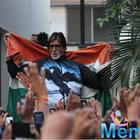 Amitabh Bachchan Celebrates With Fans Indias World Cup Win Over Pakistan