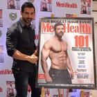 John Abraham Launched Men's Health Magazine Cover Page