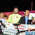Abhishek Bachchan Turns Cyclist at an Event in Nashik