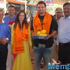 Mahaakshay And Evelyn Sharm Snapped At Siddhivinayak Temple