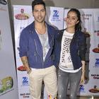 Varun Dhawan And Shraddha Kapoor On Zee Super Moms Sets