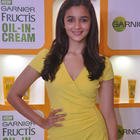 Alia Bhatt Launched The Garnier Fructis Triple Nutrition Oil In Cream Product