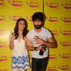 Alia And Shahid At Radio Mirchi Studio To Promote Shaandaar Film