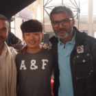 Aamir Masti With Wang Baoqiang On The Sets Of Dangal