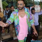 Ranveer With A Quirky Outfit Arrived At Airport