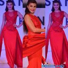 Jacqueline Dapper In Red Outfit At Dessange Event In Mumbai