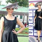 Sonam Kapoor  at Mid-Day Derby Event in urban-chic avatar