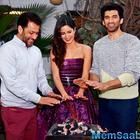 Katrina,Aditya And Abhishek Launch Fitoor Song Pashmina In New Delhi