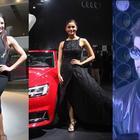 Bollywood  stars Ranbir Kapoor, Katrina Kaif, Alia Bhatt at Auto Expo Noida