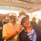 Narendra Modi pulls 'proud' Akshay Kumar's son's ear