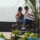 Shraddha and Aditya's bike ride on OK Jaanu Sets