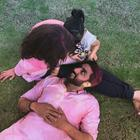 Abhishek shared a post Holi picture with 'his girls'
