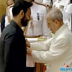 Ajay Devgan and Anupam Kher received  Padma Award in New Delhi