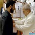 Ajay Devgan and Anupam Kher received  Padma Award in New Delhi