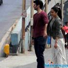 Aditya and Shraddha at Marine Drive, shooting for a sequence of Ok Jaanu