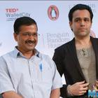 Arvind Kejriwal at the launch of Hashmi's debut book titled 'Kiss of Life'