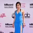Priyanka Chopra looking as Beautiful on the BBMAs pink carpet in blue Official Versace