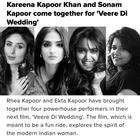 Finally: Sonam's next project has been  announced, it also stars Kareena and Swara