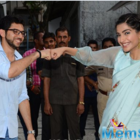 Sonam Kapoor inaugurates Neerja Bhanot chowk in Mumbai with Aaditya Thackeray