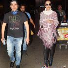 Estranged couple Malaika  and Arbaaz  spotted at the airport