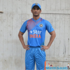 The handsome hunk Sushant looks like M.S. Dhoni's clone in team India jersey