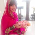 Bipasha Basu in a typical Punjabi attire celebrates Karwa Chauth