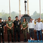 Sonakshi and John paid tribute to Indian soldiers at Amar Jawan Jyoti in India Gate