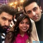 Handsome hunk Ranveer and Ranbir on the chat show Koffee with Karan