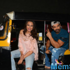 Force 2 lead pair Sonakshi-John having fun time on an auto rickshaw