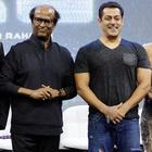 Salman gave a surprise visit to Rajinikanth at the first look launch event of '2.0'.