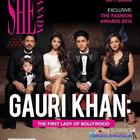 SRK's perfect family picture on the February issue of SHE Canada