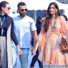 The rumored couple Sonam Kapoor and Anand Ahuja enter India Art Fair together
