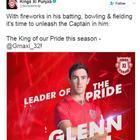 Australian all-rounder Glenn Maxwell replaced Murali Vijay as Kings XI Punjab skipper in IPL