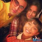 So lovely: Ranbir-Katrina Kaif first ever selfie on 'Jagga Jasoos' sets