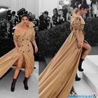 Priyanka Chopra looks stunning in a Ralph Lauren trench coat at Met Gala