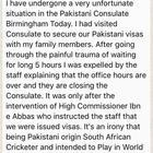 Imran Tahir: Me with my family were humiliated & expelled from the Pak High Commission