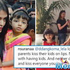Aishwarya Rai trolled for kissing daughter on the lips