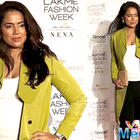 Sameera Reddy is all set to welcome baby number two, flaunts baby bump at Lakme Fashion Week 2019